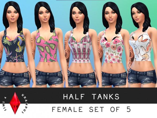 Sims 4 Set of 5 half tanks at Sims 4 Krampus