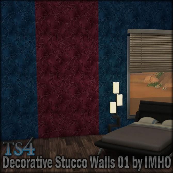 Sims 4 Decorative Stucco Walls 01 at IMHO Sims 4