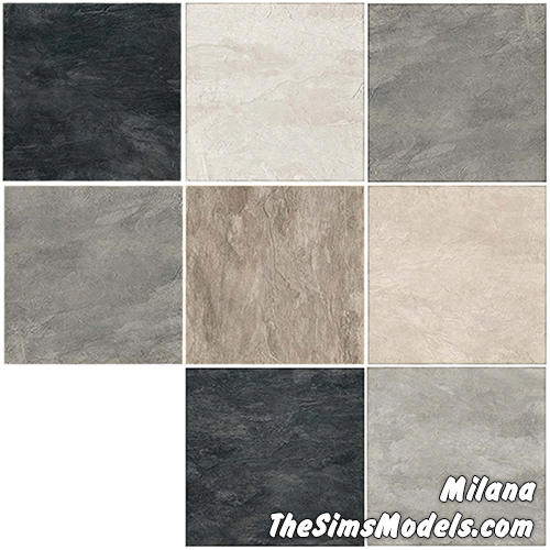 Big Tile Floors by Milana at The Sims Models » Sims 4 Updates