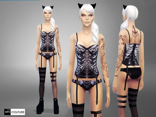 Skeleton Lingerie by MissFortune at TSR image 73121 Sims 4 Updates