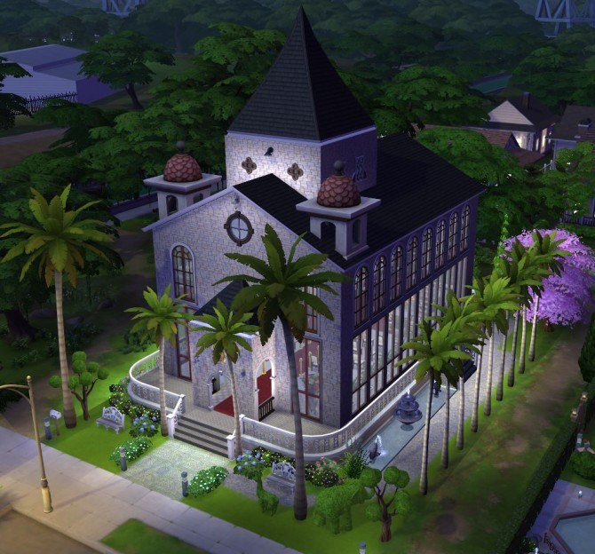 Church Of The Palms Wedding Chapel By Marjia At Mod The Sims 187 Sims 4 Updates