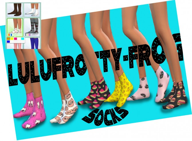 Socks at Lulufrosty frog image 739 Sims 4 Updates