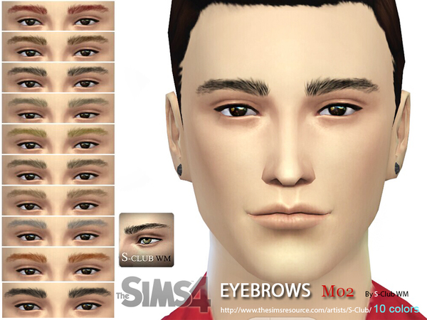 WM Eyebrows M02 by S Club at TSR image 750 Sims 4 Updates