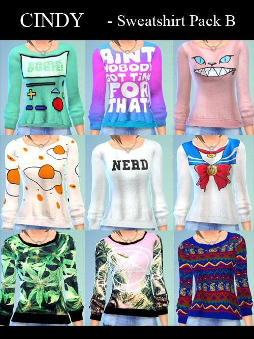 18 Sweatshirt Pack by Cindy at CCTS4 image 75111 Sims 4 Updates
