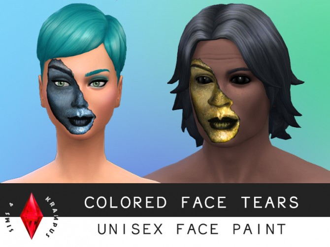 Sims 4 Colored face tears at Sims 4 Krampus