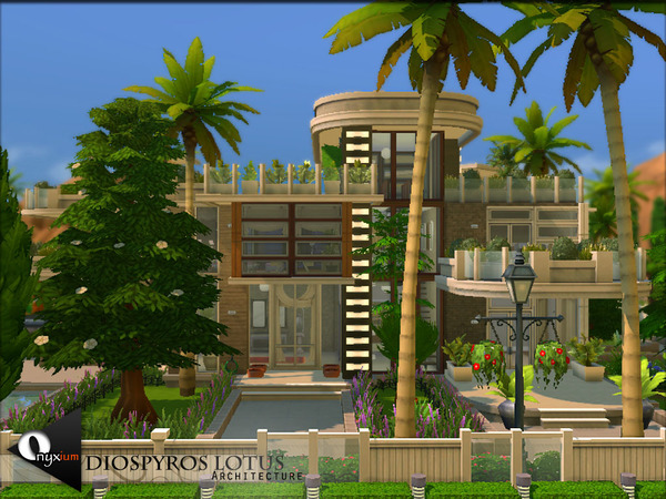 Diospyros Lotus house by Onyxium at TSR image 7611 Sims 4 Updates