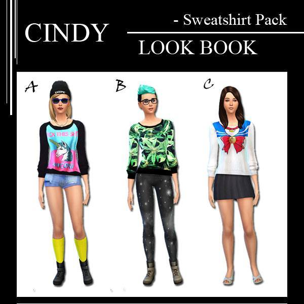 18 Sweatshirt Pack by Cindy at CCTS4 image 76121 Sims 4 Updates