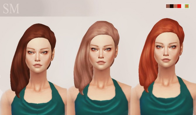 Sims 4 SM Pénelope Hair at Simaniacos