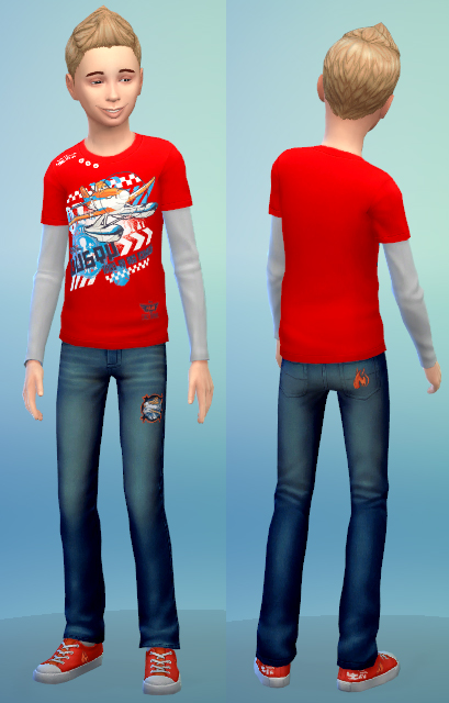 CAS content for kids: tattoos, socks and outfit at Sim2me image 766 Sims 4 Updates