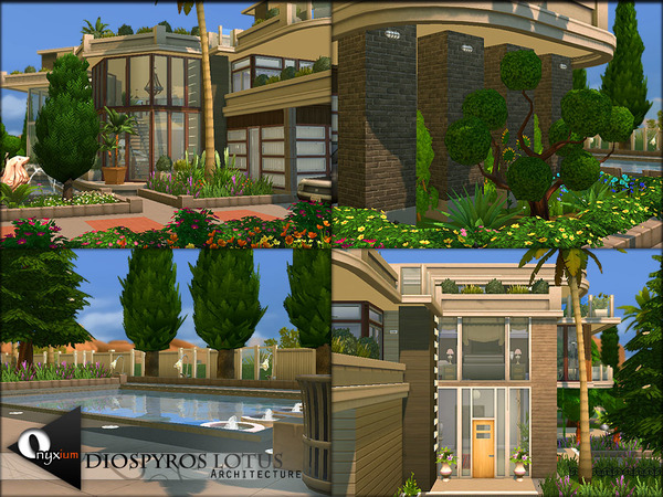 Diospyros Lotus house by Onyxium at TSR image 7710 Sims 4 Updates