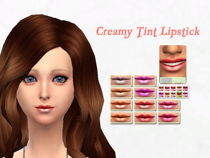 Sims 4 Creamy tint lipstick at Sakura