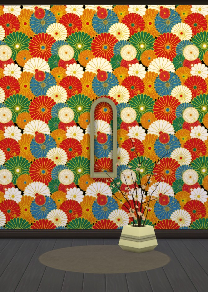 Japanese Wallpapers Part 1 at Gelly Sims image 7923 Sims 4 Updates
