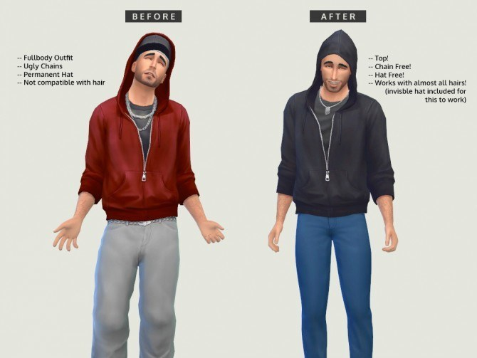 Sims 4 Fullbody hoodie/baggy jeans EDIT at LumiaLover Sims