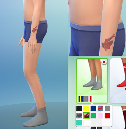 CAS content for kids: tattoos, socks and outfit at Sim2me image 796 Sims 4 Updates