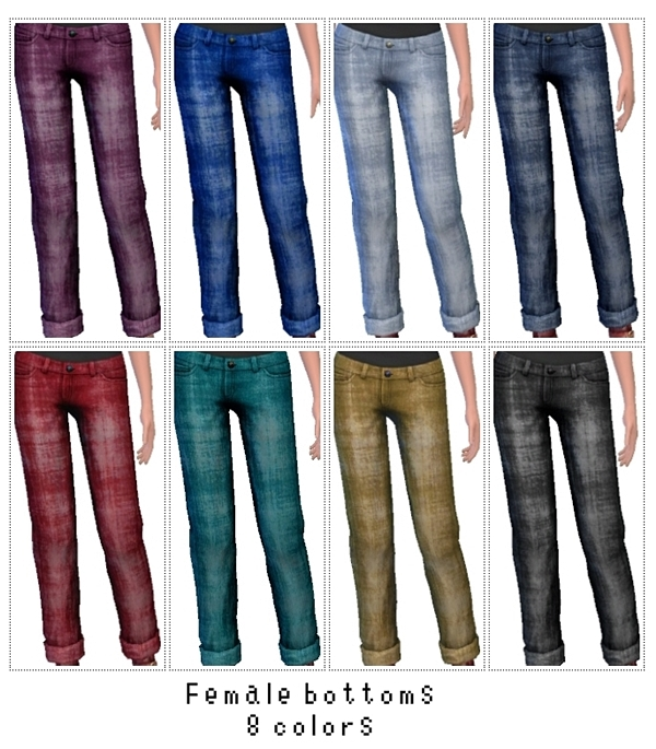 Sims 4 Female bottoms 8 colors at MEONMEONS SIMS