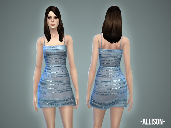 Sims 4 Allison dress by April at TSR
