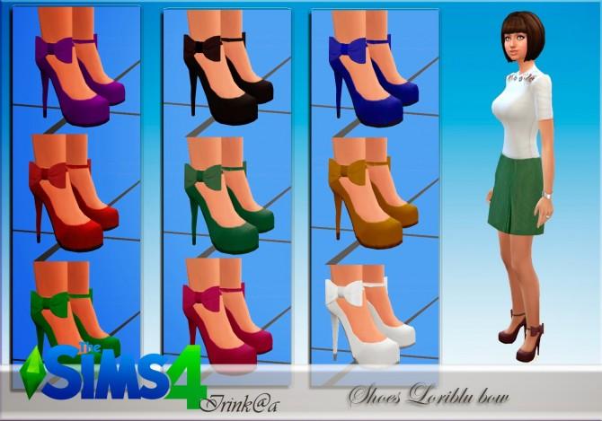 Sims 4 Shoes Loriblu bow at Irink@a