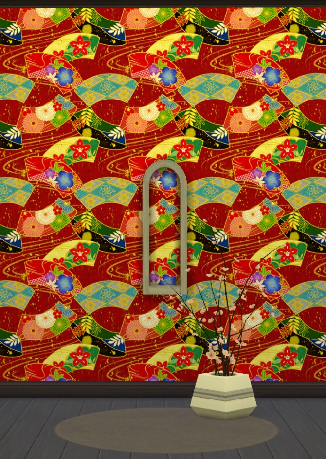 Japanese Wallpapers Part 1 at Gelly Sims image 8141 Sims 4 Updates