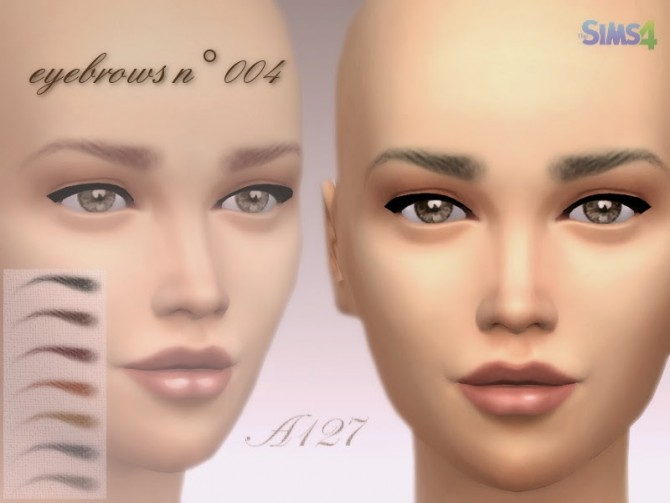 Eyebrows n° 004 at Altea127 SimsVogue image 82101 Sims 4 Updates