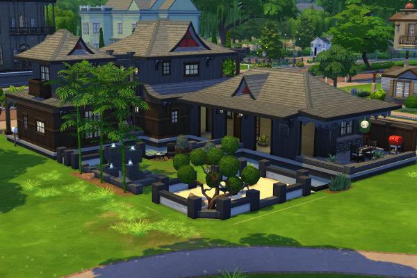 Sims 4 Tera Yoruosoku asian house by Satureja at Blacky's Sims Zoo