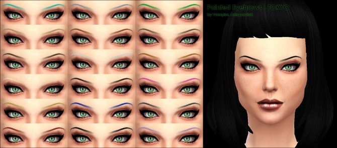 Painted Eyebrows 2 styles by Vampire aninyosaloh at Mod The Sims image 825 Sims 4 Updates