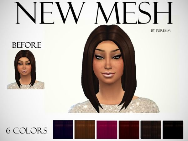 Voluminous Hair Mesh by Puresim at TSR image 8251 Sims 4 Updates