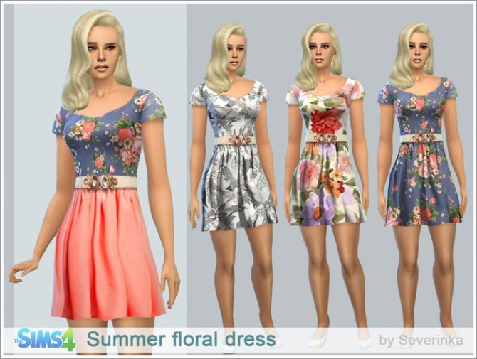 Summer floral dress at Sims by Severinka image 83101 Sims 4 Updates