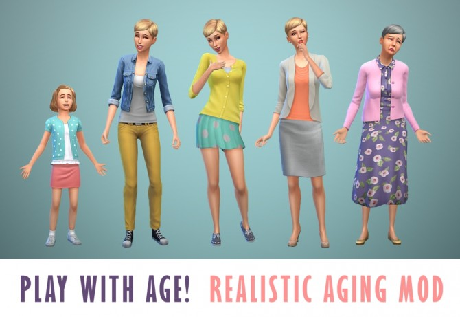 Sims 4 Realistic Aging Mod by SimLeigh at Mod The Sims