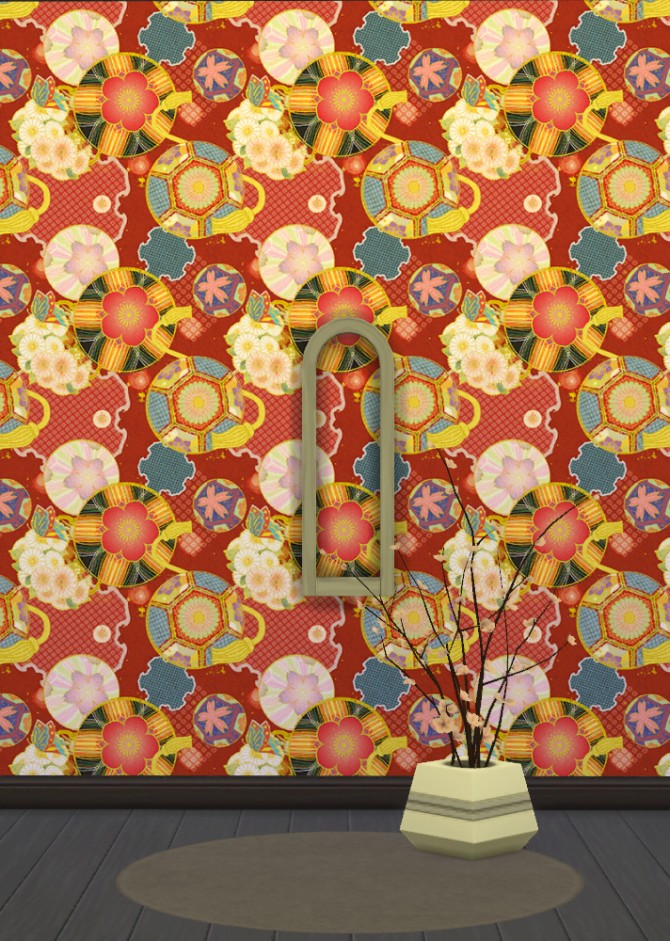 Japanese Wallpapers Part 1 at Gelly Sims image 8321 Sims 4 Updates