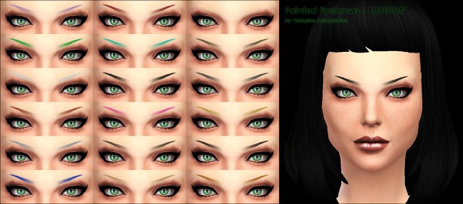 Painted Eyebrows 2 styles by Vampire aninyosaloh at Mod The Sims image 835 Sims 4 Updates