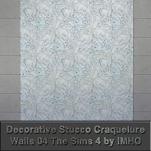 Sims 4 Decorative Stucco Craquelure Walls at IMHO Sims 4