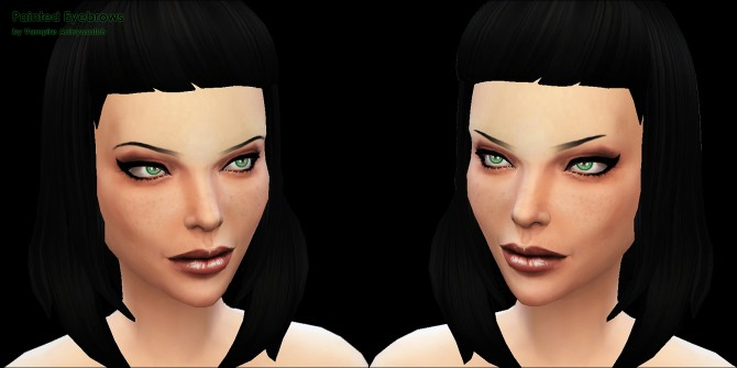 Painted Eyebrows 2 styles by Vampire aninyosaloh at Mod The Sims image 845 Sims 4 Updates