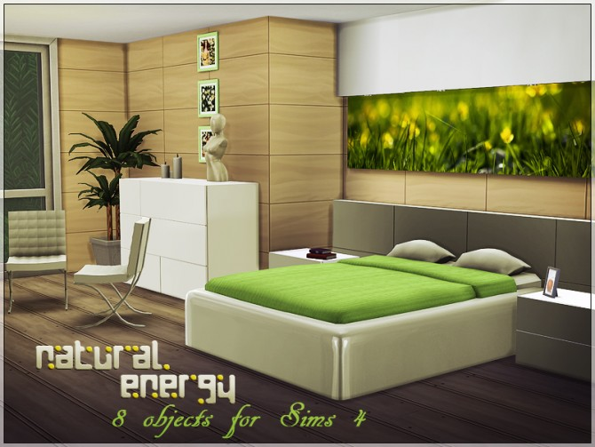 Natural energy bedroom by yulia ko at sims studio sims 4 for Bedroom designs sims 4