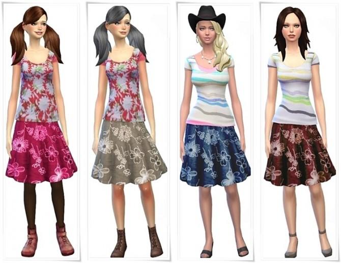 Sims 4 Shirts and skirts at MEONMEONS SIMS