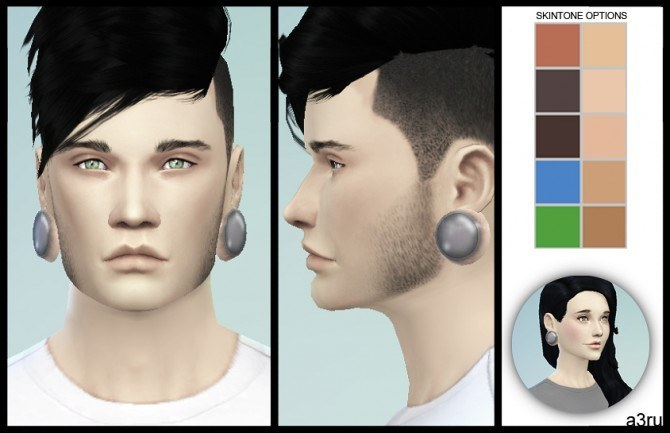 Sims 4 Stretched Ear Plugs at A3RU