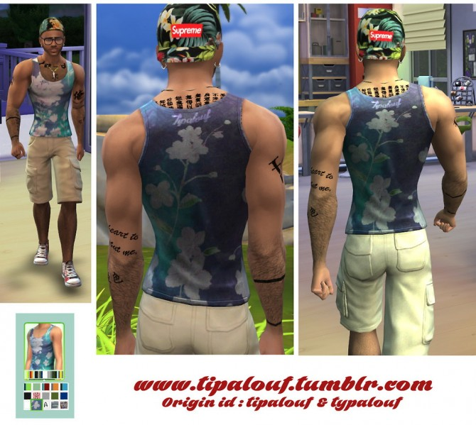 Sims 4 Hawaii tank for YAMale at Tipalouf