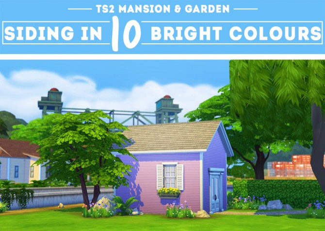 Sims 4 Coloured siding wallpaper TS2 conversion at OnePracticalGhost