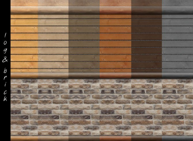 log cabin interior wall set 18 colors by mustluvcatz at. Black Bedroom Furniture Sets. Home Design Ideas