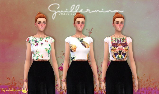 Sims 4 Guillermina fashion collection at In a bad Romance