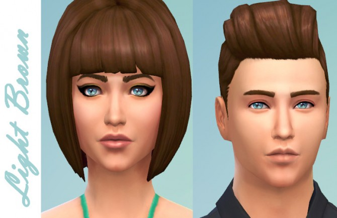 Sims 4 Better Brown Hair Shade by kellyhb5 at Mod The Sims