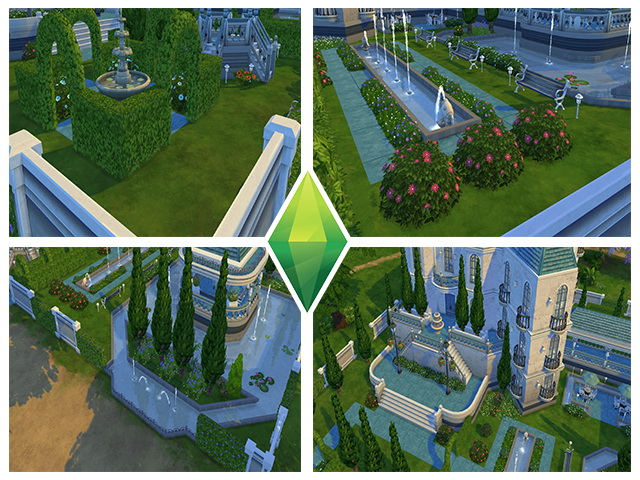Ancient Estate Blue by m13 at Sims Fans image 879 Sims 4 Updates
