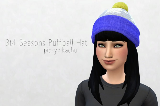 Sims 4 3t4 Seasons Puffball Hat at Pickypikachu