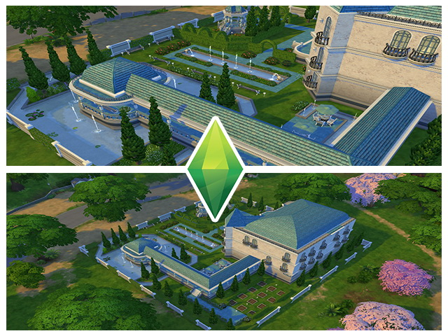 Sims 4 Ancient Estate Blue by m13 at Sims Fans