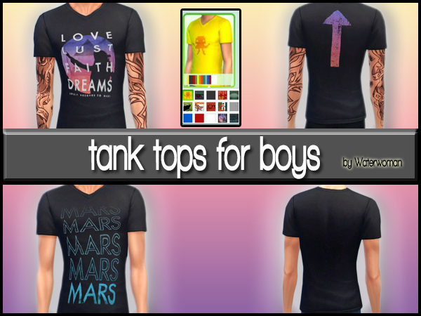 Sims 4 Thirty Seconds To Mars Shirts by Waterwoman at Akisima