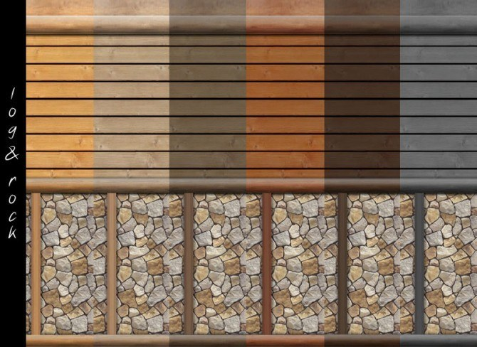 Log Cabin Interior Wall Set 18 Colors By Mustluvcatz At Mustluvcatz Sims 4