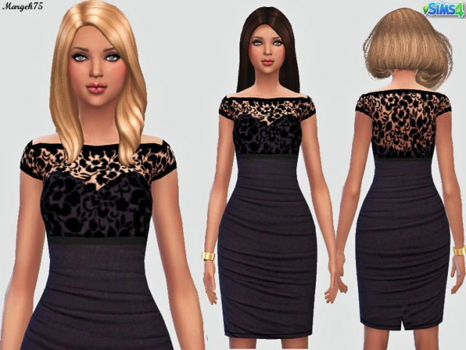 Ruffle Lace Dress by Margie at Sims Addictions image 8861 Sims 4 Updates