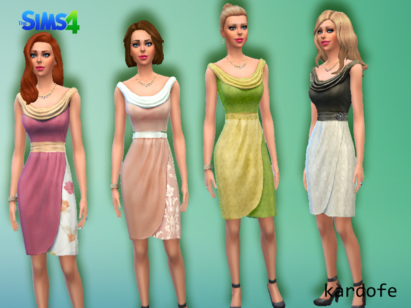 Dress Drape Classic recolor by kardofe at TSR image 890 Sims 4 Updates