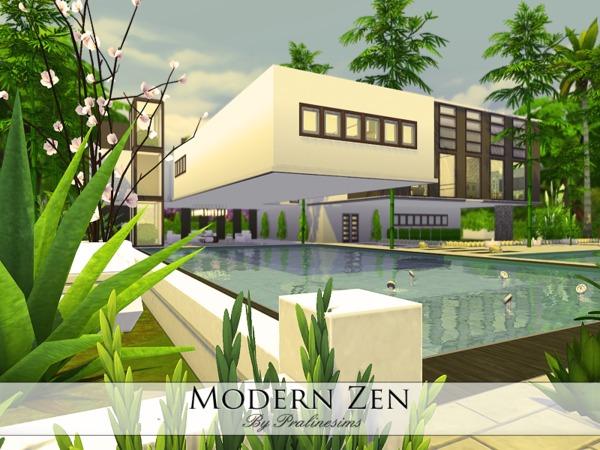 Sims 4 Modern Zen by Pralinesims at TSR
