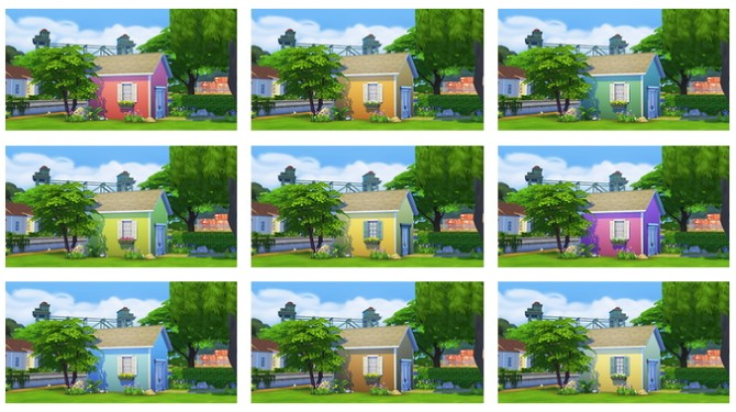 Coloured siding wallpaper TS2 conversion at OnePracticalGhost image 9131 Sims 4 Updates