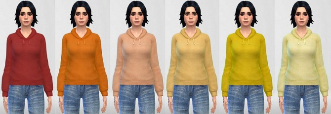 Sims 4 Pullover Hoodie in Anna's 30 Colors at ThatMalorieGirl